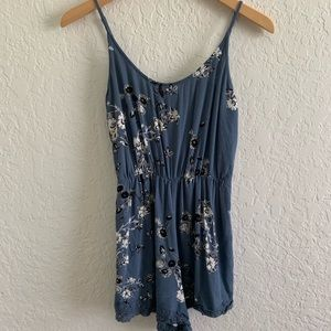Kendall & Kylie Blue Floral Romper Small
